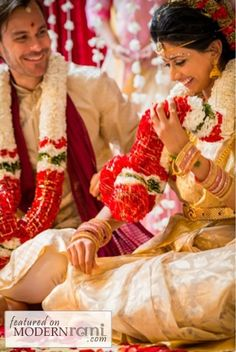 Look how happy they are! :) --- #indian #wedding #candid