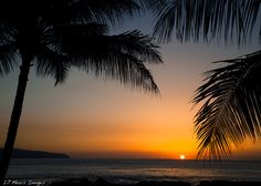 'This, This is Hawaii'  Sunset over the Pacific Ocean, North Shore, Hawaii