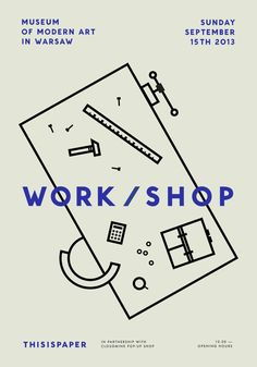 Work/Shop by Mélanie, student, Lyon, Line, Minimal, Illustration, Photography, Knolling, 2 Colour, Layout