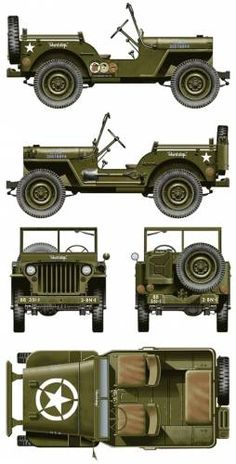 The-Blueprints.com - Blueprints > Cars > Willys > Willys Jeep MB