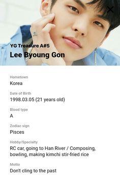 Lee Byounggon Profile | YG TREASURE BOX Group A #ygtrainee #ygnbg