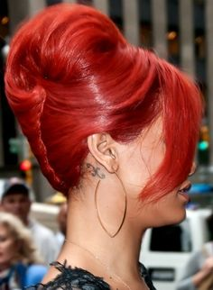 Love the color and the puffed French twist