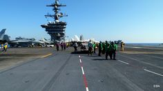 Flight ops on the USS Carl Vinson CVN-70