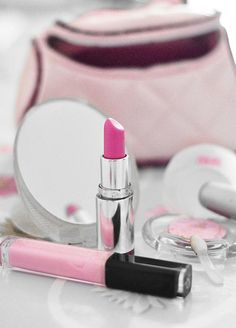 Pretty PINK lip stick & gloss!