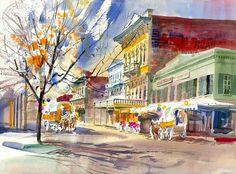 Old Town Sacramento – California Watercolor