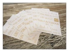 Facebook wedding signs. Deannamic Designs Gold Invitations, Wedding Signs, Typography, Facebook, Prints, Image, Design, Gold Save The Dates, Wedding Plaques