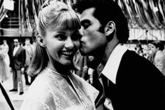 Behind the scenes: Olivia Newton-John and John Travolta flirt on the set of GREASE (1978)