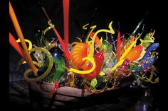Dale Chihuly boat in the Columbus, Ga, Museum.