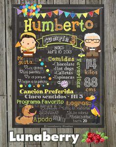 Blackboard Blackboard's birthday UP pixar c by LunaberryMonterrey