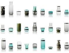 Sarah Bottger keeps it modular with her nifty Juuri series of glassware. By taking one basic bottle shape, making dozens of them and making cuts at eight different locations, Bottger cleverly yields a myriad of containers, from jars to glasses to decanters and everything in between.