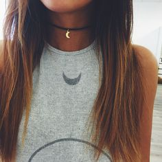 Gold Crescent Choker – Stargaze Jewelry