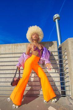 (1) Home / Twitter Photoshoot Themes, Photoshoot Inspiration, Style Inspiration, Fashion Moda, 70s Fashion, Fashion Outfits, 70s Inspired Fashion, Black Girl Aesthetic, Black Girl Fashion