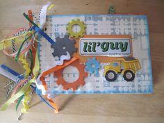 Construction Mini Album Front - Scrapbook.com