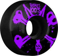 Bones 100's 55mm Black 4pk