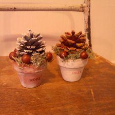 手作り/まつぼっくり…などのインテリア実例 - 2013-10-25 23:22:35 | RoomClip(ルームクリップ) Diy And Crafts, Arts And Crafts, Pine Cone Crafts, Holiday 2014, Christmas Decorations, Table Decorations, Miniature Dolls, Pine Cones, Dried Flowers