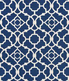 Shop Waverly Lovely Lattice Lapis Fabric at onlinefabricstore.net for $16.05/ Yard. Best Price & Service.