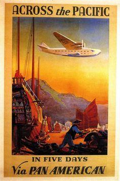 The Boeing 314 Clipper  via PAN AM 1938