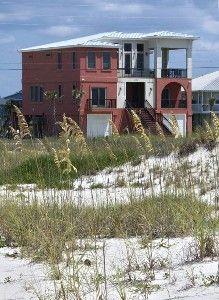View of home from the beach