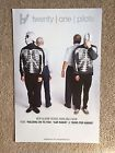 Twenty One Pilots Rare Double Sided Vessel Promo Poster 11 X 17