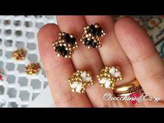 Tutorial Orecchini Easy - Rocaille e Superduo - YouTube Bead Jewellery, Beaded Jewelry, Seed Bead Earrings, Stud Earrings, Earrings Handmade, Handmade Jewelry, Super Duo Beads, Wire Jewelry Making, Diy Jewelry Inspiration