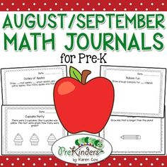 $Math journals help pre-k children use problem solving strategies and promote higher order thinking.Easy prep: just print and copy for your class. This is a quick activity you can do daily or weekly. I have included 30 journal pages so you can choose the ones you want to use.