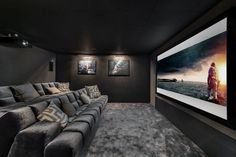 Luxury Chalet in Megeve, France from Ski In Luxury. Features cinema, gym facilities, hot tub and fireplace. Home Theater Room Design, Movie Theater Rooms, Home Theater Decor, Home Theater Seating, Cinema Room Small, Home Cinema Room, Small Movie Room, Salas Home Theater, Dream Home Design