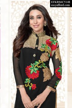 Scarlet Karishma Kapoor Black Suit, For Buy Call or Whatsapp 08968017642, 07837409851 or  Click this link Below http://easyafford.com/salwar-suits/1134-scarlet-karishma-kapoor-black-suit.html