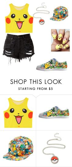 """""""★Pokemon kit!!!🙌★"""" by kyliekendall-1 ❤ liked on Polyvore featuring Chicnova Fashion and Bioworld"""