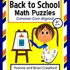 Back to School Common Core Math Puzzles for the fourth grade.  Are your students bored of doing the same old math problems?  Try this book that has...