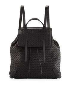 f66b364a2f95 Bottega Veneta Medium Intrecciato Leather Backpack