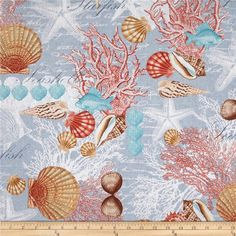 Fond, background, papiers, paper, scrap, printable : Coquillages