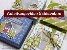 Christmas Card Crafts, Stampin Up Christmas, Stampin Up Weihnachten, Diy And Crafts, Paper Crafts, Stamping Up, Projects To Try, Gift Wrapping, Creative
