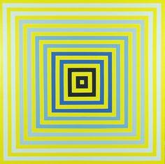 Art Optical, Optical Illusions, Josef Albers, Square Art, Kinetic Art, Blue Art, Science Art, Op Art, Sacred Geometry