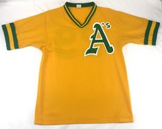 Don Alleson Oakland As Jersey Large Yellow V Neck Curt Young Berroa  Seizmore  Athletics  AllesonAthletic  OaklandAthletics 2e9523cc9