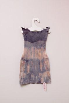 reconstructed undershirt dip dye dress.
