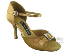 Natural Spin Signature Latin Shoes(Open Toe, Adjustable):  H1112-07a_GoldES
