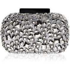 Vintage Styler Luna Embellished Metallic Clutch Bag
