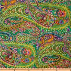 Kaffe Fassett Paisley Jungle Green  Wow! Love this one too!