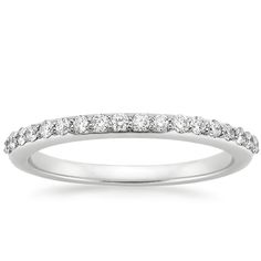18K White Gold Petite Shared Prong Diamond Ring (1/4 ct. tw.) from Brilliant Earth