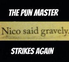 The pun master