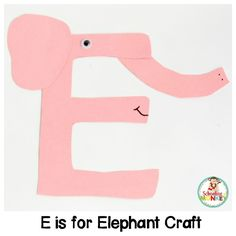 Transform letter cut-outs into adorable animal alphabet crafts! These preschool alphabet letter crafts are the perfect addition to letter of the week activities! Make a craft alphabet for toddlers and have a blast with these alphabet crafts for kids. Letter E Craft, Alphabet Letter Crafts, Abc Crafts, Alphabet Book, Preschool Crafts, Crafts For Kids, Alphabet Activities Kindergarten, Teaching The Alphabet, Animal Letters