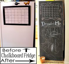 Transform your fridge into a chalkboard using non-toxic @LullabyPaints