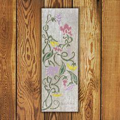 Custom made Portfolio Series Tile Tile. Vertical x Hollyhock Tile is Made in Canada and comes with a Lifetime Warranty. Garden Art, Pink Home Decor, Cottage Garden, Flower Tile, Commercial Flooring, Barn Wood, Original Work, Tile Art, Reclaimed Barn Wood
