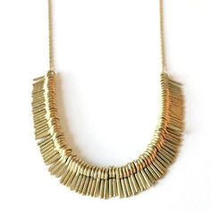 Eco Jewelry, Reclaimed Brass Fringe Necklace | MadeFAIR
