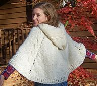 Ravelry: Winter Wonderland Cape (a hooded poncho) pattern by Mary C. Gildersleeve
