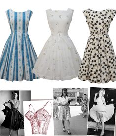 Fifties dresses and inspiration. Love it. I am pretty sure that in a different incarnation I lived in the 50's