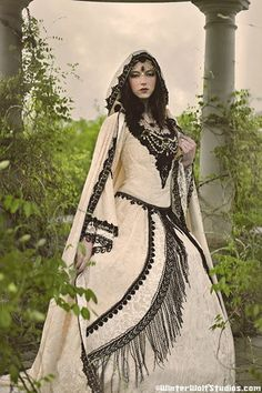 Gothic Fairy Medieval or Renaissance Style Fantasy Set with Cape Custom Colors. $1,450.00, via Etsy.