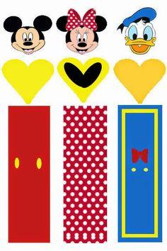 Mickey y sus Amigos: Envoltorios Especiales para Golosinas, para Imprimir Gratis.