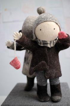 Ирина Андреева super cute winter woolly felt figure friends great christmas gifts or decorations