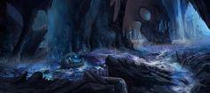 River Styx, an art print by Anthony Christou Hades Underworld, Greek Underworld, Fantasy Art Landscapes, Fantasy Landscape, Landscape Art, Fantasy Places, Fantasy World, Fantasy Life, Lore Olympus